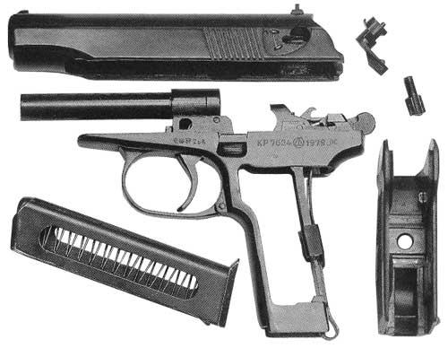 Полная разборка пистолета